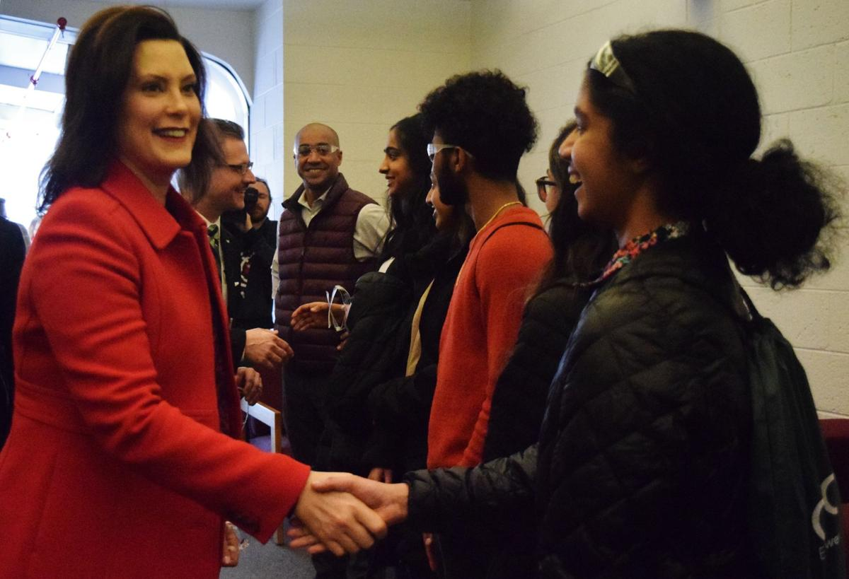 Governor Gretchen Whitmer toured Oakland Community College