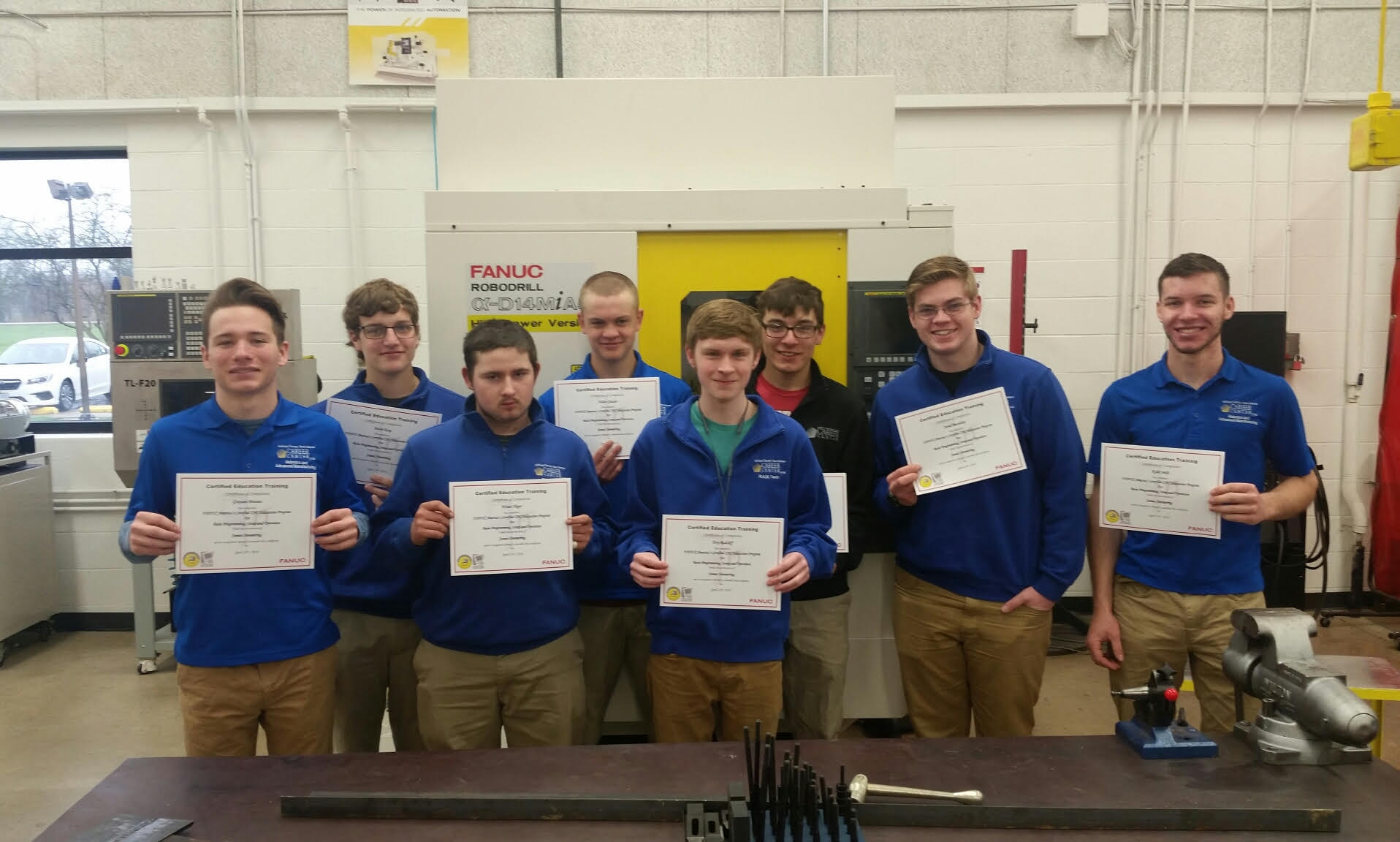 Congratulations RAMTEC students on receiving FANUC CNC Certification!